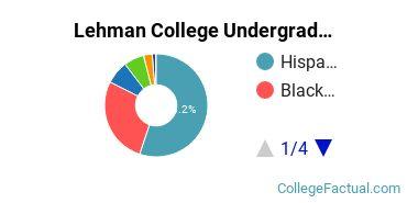 Lehman Undergraduate Racial-Ethnic Diversity Pie Chart
