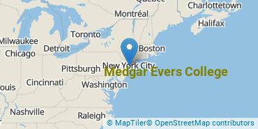 Location of Medgar Evers College