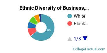 Ethnic Diversity of Business, Management & Marketing Majors at Curry College