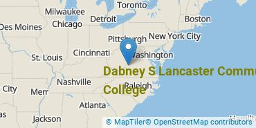 Location of Dabney S Lancaster Community College