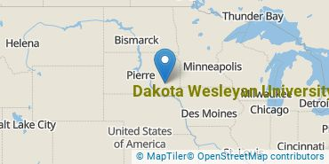 Location of Dakota Wesleyan University