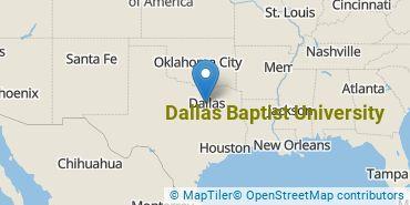 Location of Dallas Baptist University
