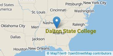 Location of Dalton State College