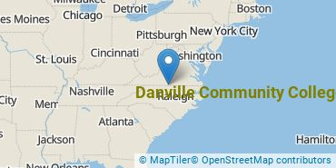 Location of Danville Community College