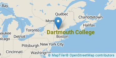 Location of Dartmouth College