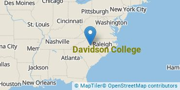 Location of Davidson College