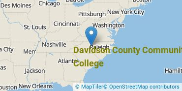 Location of Davidson County Community College