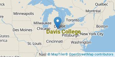 Location of Davis College