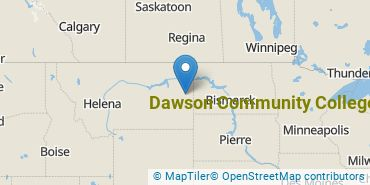 Location of Dawson Community College
