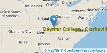 Location of Daymar College - Clarksville