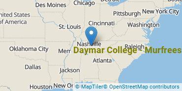 Location of Daymar College - Murfreesboro