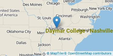 Location of Daymar College - Nashville