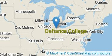 Location of Defiance College