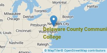 Location of Delaware County Community College