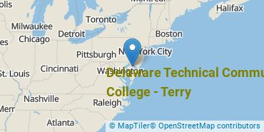 Location of Delaware Technical Community College - Terry