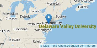 Location of Delaware Valley University