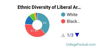 Ethnic Diversity of Liberal Arts / Sciences & Humanities Majors at Delgado Community College