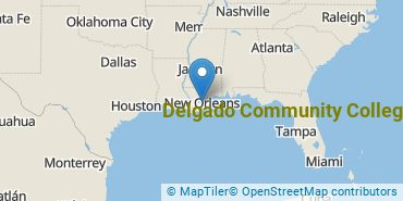 Location of Delgado Community College