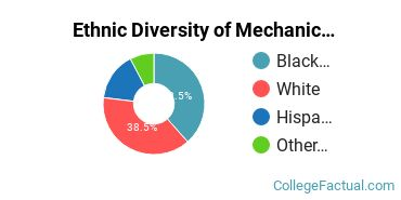 Ethnic Diversity of Mechanic & Repair Technologies Majors at Delgado Community College