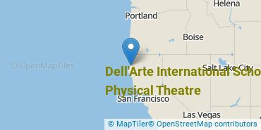 Location of Dell'Arte International School of Physical Theatre