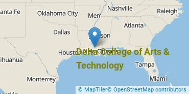 Location of Delta College of Arts & Technology