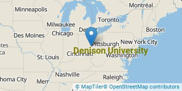 Location of Denison University
