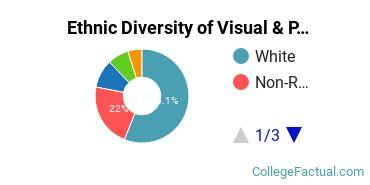 Ethnic Diversity of Visual & Performing Arts Majors at Denison University
