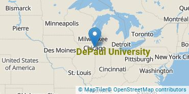Location of DePaul University