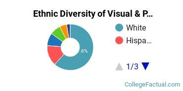 Ethnic Diversity of Visual & Performing Arts Majors at DePaul University