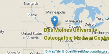 Location of Des Moines University - Osteopathic Medical Center