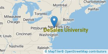 Location of DeSales University