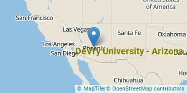 Location of DeVry University - Arizona