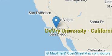 Location of DeVry University - California