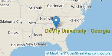 Location of DeVry University - Georgia