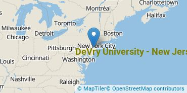 Location of DeVry University - New Jersey