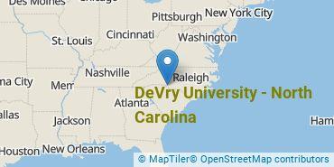 Location of DeVry University - North Carolina