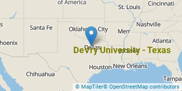 Location of DeVry University - Texas