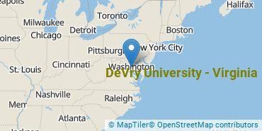 Location of DeVry University - Virginia