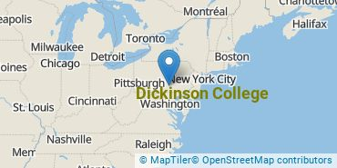 Location of Dickinson College