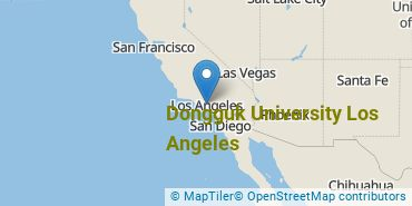 Location of Dongguk University Los Angeles