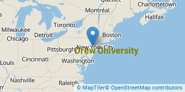 Location of Drew University