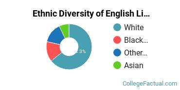 Ethnic Diversity of English Literature (Other) Majors at Drexel University