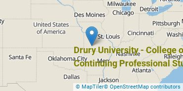 Location of Drury University - College of Continuing Professional Studies