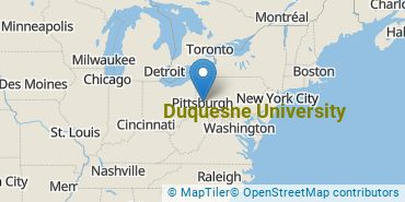 Location of Duquesne University