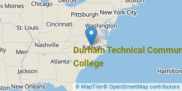 Location of Durham Technical Community College