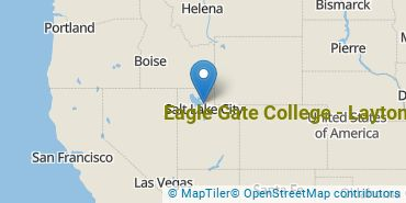 Location of Eagle Gate College - Layton