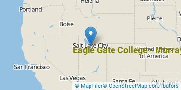 Location of Eagle Gate College - Murray