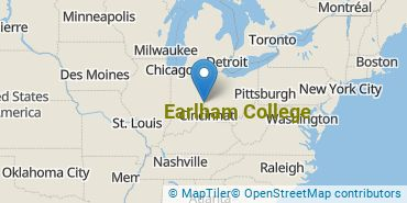 Location of Earlham College