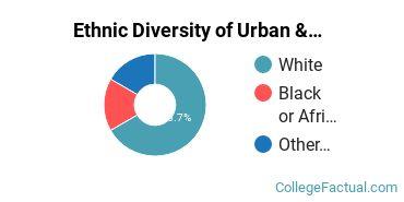 Ethnic Diversity of Urban & Regional Planning Majors at East Carolina University