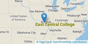 Location of East Central College